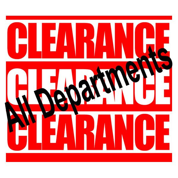 All Stock Clearance Items