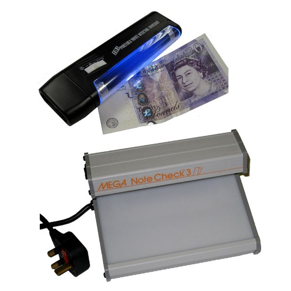 Counterfeit Banknote Detectors & UV Lamps