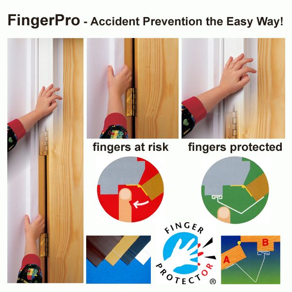 Finger Protector - Hinge Cavity Cover Strip for Doors