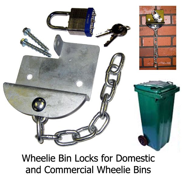 Domestic & Commercial Wheelie Bin Locks