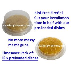 Bird Free Fire Gel - 15 x Pre-loaded Magnetic Dishes Timesaver Pack