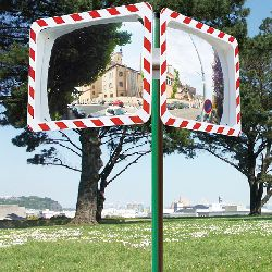 Round Traffic Mirror Vialux R-W Frame - choice of sizes