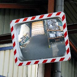 Rectangular Traffic Mirror Vialux R-W Frame - choice of sizes