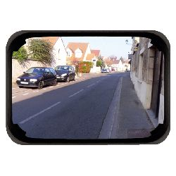 Unbreakable Black Framed Mirror Vialux PMR - choice of sizes