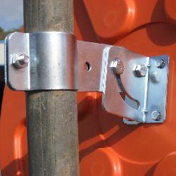 Budget Post Fixing Bracket - pan and tilt adjustable
