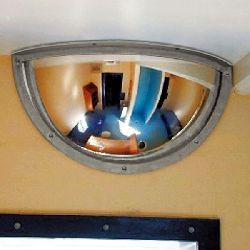 Institution Half Dome Anti Ligature Mirror - Stainless Steel 500x250mm