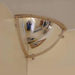 Institution Quarter Dome Anti Ligature Mirror - Polycarbonate 300x300mm