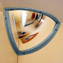 Institution Quarter Dome Anti Ligature Mirror - Stainless Steel 250x250mm