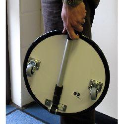 Round 35cm Diam. Trolley Type - Inspection Mirror