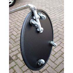 Under Vehicle Trolley Type Search / Inspection Mirror (400mm diam. Mirror)