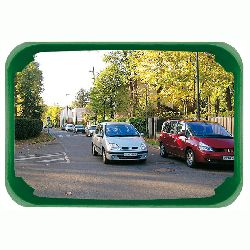 Unbreakable Green Framed Mirror Vialux PMR - choice of sizes