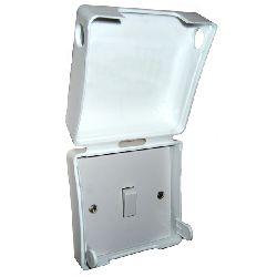 socket pro safety cover hinged cliplid single 13a socket