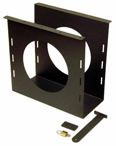 Under Desk Locking Small Form Tower Hanger - for computers up to H-360 x W-100 x D-420mm