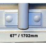 Window Security Bars - Face Fix - Telescopic Adaptabar 67 to 79 inches (1702-2007mm)