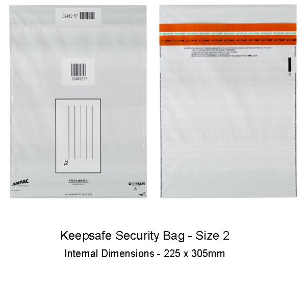 Keepsafe Security Bag Opaque Size 2 pack of 20