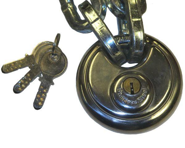 80mm Discus Padlock (11mm shackle) - Dimple Key