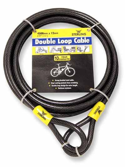 Heavy Duty Double Loop Security Cable - 12mm x 4.5 metres