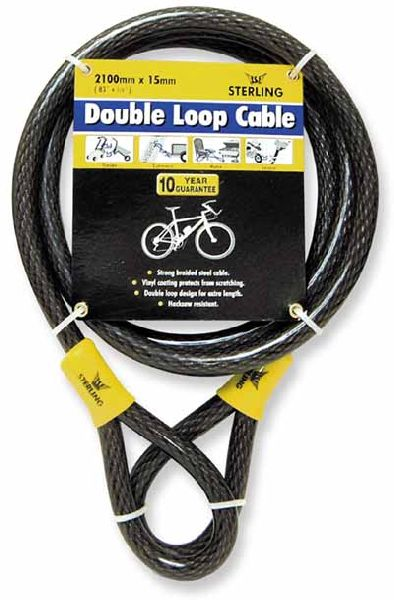 Heavy Duty Double Loop Security Cable - 15mm x 2.1 metres