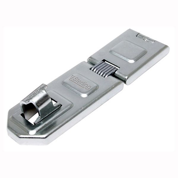Discus - Hardened Steel Security Hasp with fixings (190 x 56mm - 13mm shackle diam)