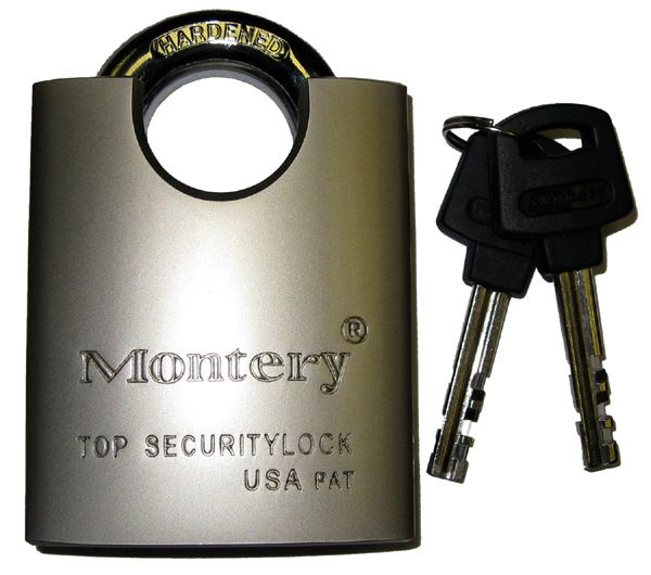 60mm Close Shackle Nickel Plated Brass Padlock