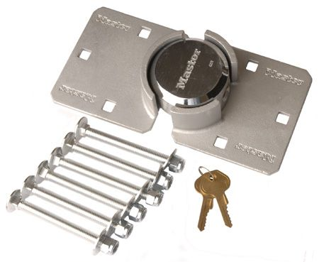 Van Lock (Master) - Shackleless Padlock and Hasp with fixings - side access to lock