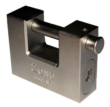 ZONE - High Security Solid Steel 80mm Anvil / Shutter Lock Padlock (13mm shackle)