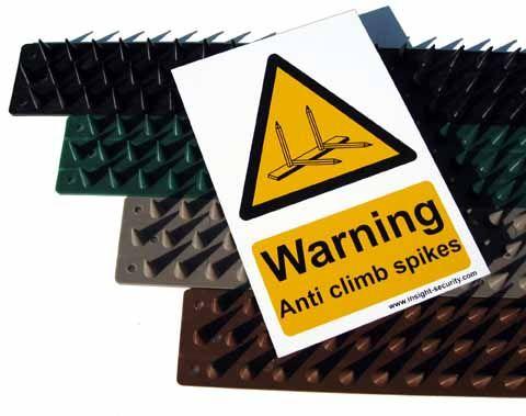 Anti Climb Prikla Hinge-Strip - 6 metre pack with Hi Viz Warning Sign