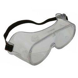 Safety Goggles - clear - polycarb lens, pvc surround - indirect vent