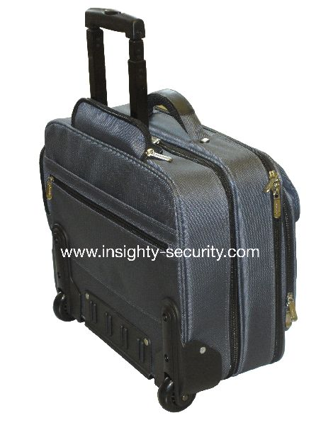 Laptop Security Softcase with built in cable lock & Luggage Trolley  (up to 17