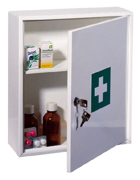 Single shelf, key locking Medicine Cabinet - Insight Security