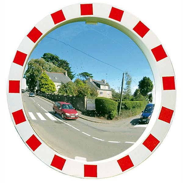 Round Traffic Mirror Vialux R-W Frame - choice of sizes