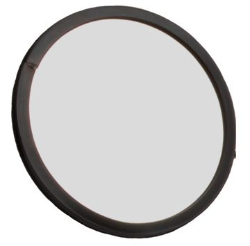 Glass Inspection Mirror with rubber bumper ring - 140mm Diameter