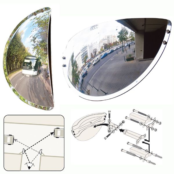Unbreakable Half Round VUMAX Wide Angle Mirror - choice of sizes