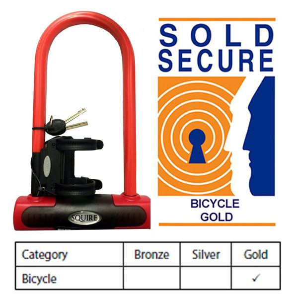 Squire Eiger 230 Heavy Duty Cycle D lock - Sold Secure Gold Rated