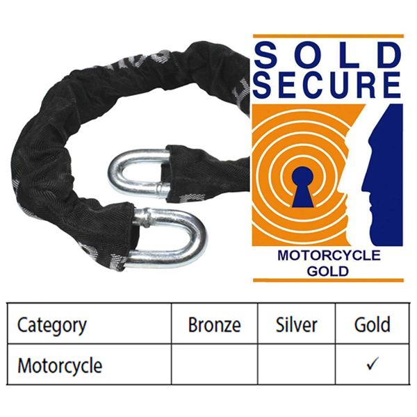 Squire TC14 High Security 14mm Chain - Sold Secure Motorcycle Gold