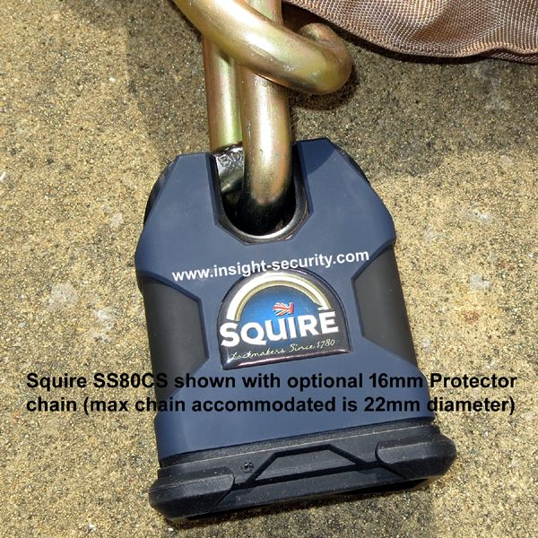 Squire SS80CS Padlock with 1.5mtr-19mm-Chain