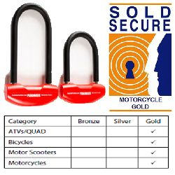 DIB-D Lock Sold Secure Motorcycle Gold