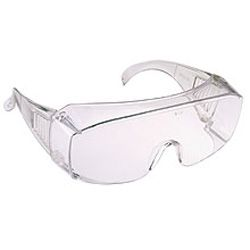 Safety Over Specs - clear - polycarb lens,  - can be worn over most spectacles