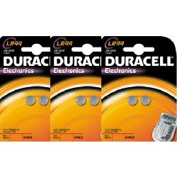Duracell LR44 high performance button cell batteries - value pack (6 x LR44 Batteries)