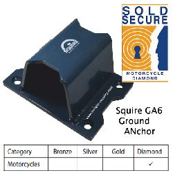 Squire GA6 Ground Anchor Sold Secure Motorcycle Diamond