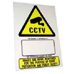 Warning Sign - CCTV - A4 size individual sign