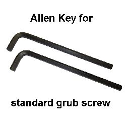6mm Long Shaft Allen Key for Standard Grub Screw – pack of 2