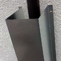 Anti-Climb Downpipe Cover - galvanised finish