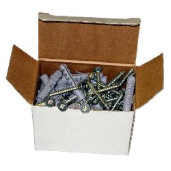 Security Fixings Pack for up to 12 Adaptabars (50 each; wall plugs / security screws)