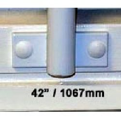 Window Security Bars - Face Fix - Telescopic Adaptabar 42 to 54 inches (1067-1372mm)