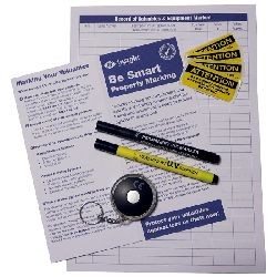 Home Security Marking Pens and Keyring UV light Pack