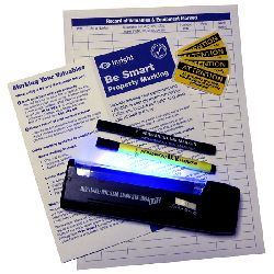 Home Security Marking Pens and UV Torch Pack