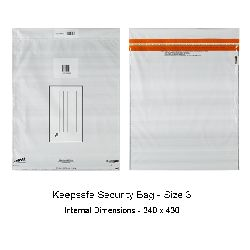 Keepsafe Security Bag Opaque Size 3 pack of 20