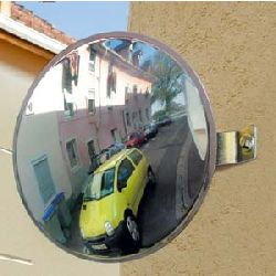 300mm Vialux Unbreakable Parking-Driveway Convex Mirror - MVD 2mtr