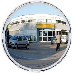 600mm Round Convex Multi Purpose Polymir Mirror - white frame (MVD:11mtr)